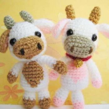 pdf Lolly baby cow amigurumi crochet pattern.-luulla