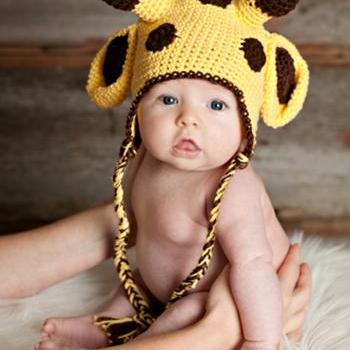 pdf giraffe crochet hat pattern 0-3 month only-luulla